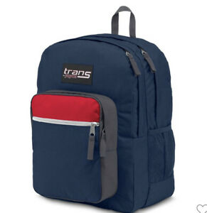 """New with Tags- Trans by JanSport 17"""" Supermax School Backpack - Navy Block"""