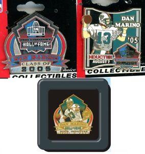 Dan Marino NFL Hall Of Fame Pin Choice 3 2005 HOF Pins to Choose Dolphins PDI