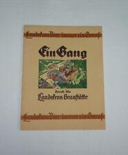 """Landskron Görlitz, Heft - """"EIN GANG DURCH DIE LANDSKRON-BRAUSTÄTTE"""", um 1950 TOP"""