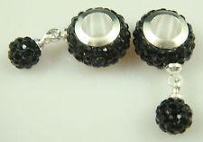 Gorgeous Czech Crystals Dangle Bead fit European Charm Bracelet Earrings j8o