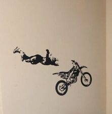 Motorcycle Jumper Wall Vinyl decal - Black
