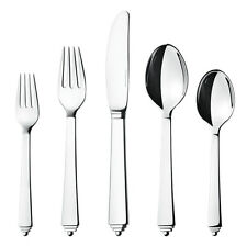 Georg Jensen Pyramid Cutlery. Five Pieces Set / Stainless steel