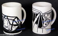 Lot de 2 mugs TINTIN MILOU et les AVIONS tasses à café Moulinsart planes NEUFS