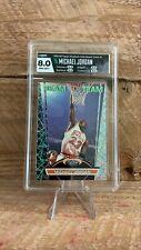 1992 STADIUM CLUB BASKETBALL BEAM TEAM #1 MICHAEL JORDAN HGA 8 NM-MT HOF BULLS