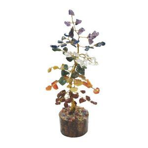 Chakra Stone Tree Life Natural Gemstone Positive Energy Heal Geode Reiki Decor