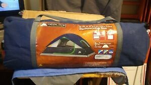 Ozark Trail 9 ft x 7 ft Backpacking Tent sleeps 4 in travel BAG VERY CLEAN