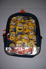 "DISPICABLE ME 2 MINIONS 16"" BOYS & GIRLS SCHOOL BACKPACK NWT!"