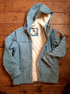 Boys Quiksilver Blue Hooded Coat Age 10 Years