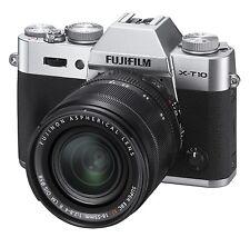 Fujifilm X Series X-T10 Mirrorles Digital Camera Silver 16-50mm Lens New Other