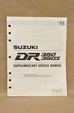 1993 Suzuki DR350 P DR350 SP DR350 S Supplement Supplementary Service Manual