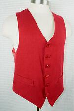 Vintage Red Vest Deerskin Trading Post Mens S Waistcoat Christmas SASS Western