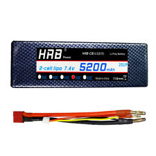 HRB 2S 5200mAh 7.4V 50C 100C 2S1P HardCase Lipo Battery with Deans plug RUSTLER