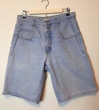 Guess Vintage 90's Women's Shorts Size 34 High Waist Light Blue 5 Pocket Zip Fly