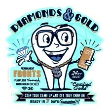 Gold - Diamonds & Gold Skateboard Sticker skate snow surf board bmx guitar van
