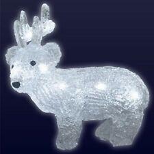 LED Rentier Deko-Figur Weihnachtsdeko Winterdeko Tischdeko 19cm Elchfigur