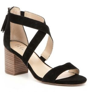 Reba Quicker Banded and Tassel Zip Sandals Size 7.5 Black NEW