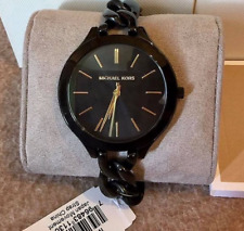 Michael Kors Slim Runway Twist Black Ladies Watch MK3317