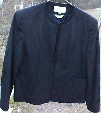 Woman's Black Blazer; Glorasuede by Domino Imports LTD; Size: 14