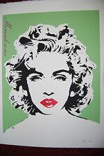 Bambi Arte Di Strada 'Verde Chiaro Madonna' 2013 Stampa (La Femmina Banksy)