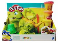 Play-Doh Knetset mit Dinosaurier Rex, 4 Dosen Knetmasse, Vulkane, Förmchen, NEU
