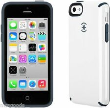 Authentic Speck SPK-A2242 CandyShell Case for iPhone 5C White/ Charcoal Grey
