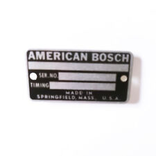 American Bosch Pack of 10 N/PLATE NP7648 by AMBAC Diesel Parts