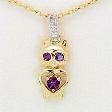 Gold Natural Amethyst Fine Necklaces & Pendants