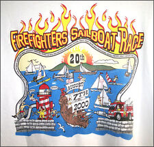 20th.CATALINA Island Firefighters Sailboat Race 2000 graphic cotton T-Shirt XL