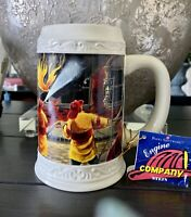 Firefighter Beer Stein - Collectible - Porcelain - Engine Company Firemen NWT