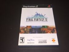 Final Fantasy XI Online PlayStation 2 PS2 Complete CIB