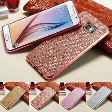 Lusso Bling Glitter Diamond TPU antiurto bumper Cover Custodia per samsung S8 A7