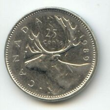 Canada 1989 Canadian Quarter Twenty-five Cent 25c EXACT COIN SHOWN ~