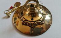 LARGER 104mm CEILING ROSE chandelier hook FRENCH brass VINTAGE old stunning
