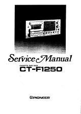 Service Manual-Anleitung für Pioneer CT-F1250