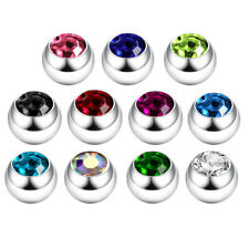 New Steel Spare Replacement Gem Ball Tragus Conch Cartilage Helix Labret 16g 14g