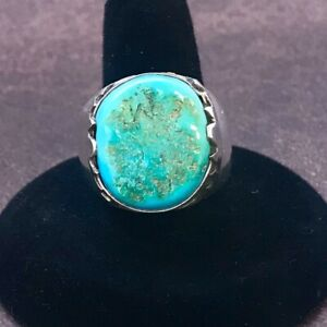💜Native American ZUNI Turquoise Sterling Silver Ring Size 10 NWOT