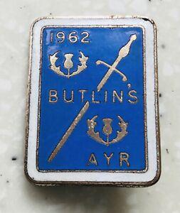 Vintage 1962  Ayr  Butlins Badge /JR Gaunt
