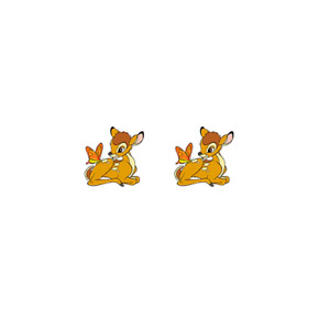 Bambi Deer From Disney Classic Animation Bambi Petite Easter Stud Earrings UK