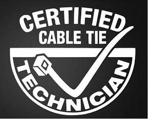 Cable tie funny car van, windows, laptop, lorry JDM vinyl decal sticker