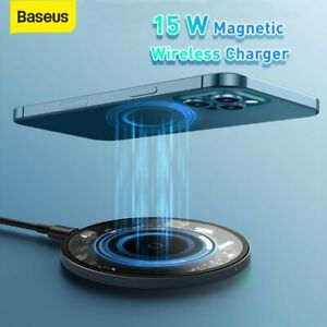 Baseus 15W Wireless Charger Magnetic Charging Pad for Airpods iPhone 12 Pro Max