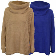 Ladies Jumper Brave Soul Women Cable Knitted Polo Turtle Roll Neck Scotch Winter