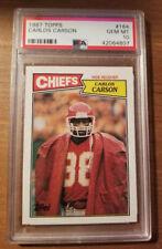 1987 Topps - Carlos Carson #164 - PSA 10 Kansas City Chiefs POP 4