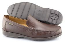 Men's MEPHISTO 'Henri' Chestnut Brown Leather Loafers Size US 9 EUR 8.5