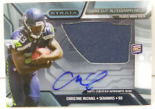 2013 Topps Strata Christine Michael Clear Cut Dual Autograph Jersey Rookie Card