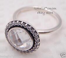 BRILLIANT LEGACY Authentic PANDORA Silver/CLEAR ZIRCONIA CZ Stone Ring 9/60