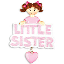 PERSONALIZED CHRISTMAS ORNAMENT FAMILY-LITTLE SISTER