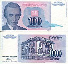 FRJ Nicola Tesla Yugoslavia 1994 100 Dinar Dinara Yugoslav Wars Banknote UNC