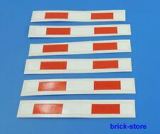 LEGO® (11) Sticker (7936) Aufkleber /  für Lego 1x8 weiß/rot Schranke