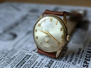 Gents Vintage Waltham Sunburst Dial Good Plated Subsidiary Dial Watch - Working