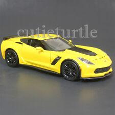 Maisto 2015 Chevrolet Corvette Stingray C7 Z06 1:24 Diecast Model 34133 Yellow